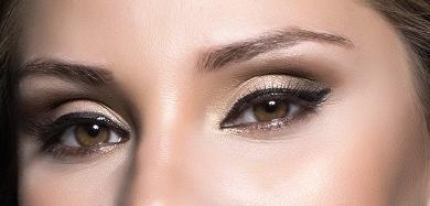 Святковий макіяж очей - Виразні стрілки