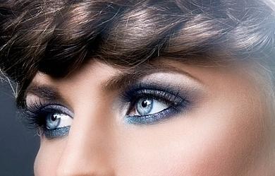 Святковий макіяж очей - Мерехтливий погляд