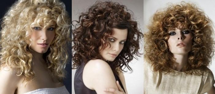 Стрижка для кудрявых волос средней длины