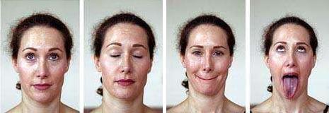 Упражнения от морщин на лице - фото