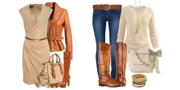 Жіночі зимові чоботи рудого кольору  поєднання з одягом. З чим ... f258d41116ae2