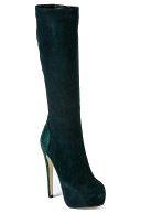 Жіночі чоботи зеленого кольору