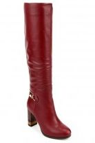 Жіночі чоботи бордового кольору