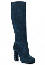 Жіночі чоботи синього кольору