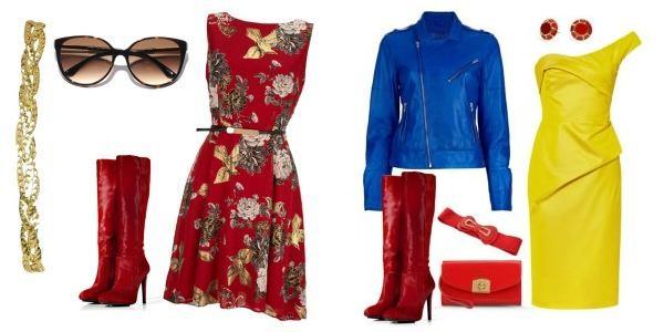 З чим носити червоні жіночі чоботи