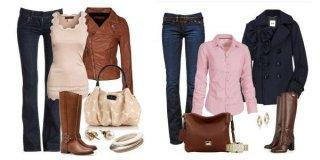 Жіночі шкіряні чоботи коричневого кольору